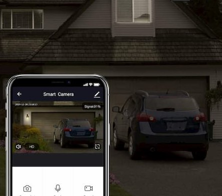 Outdoor Security Cameras capturing activity outside home